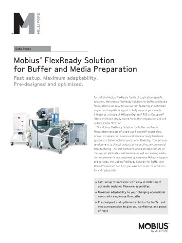 Mobius®  FlexReady Solution for Buffer and Media Preparation