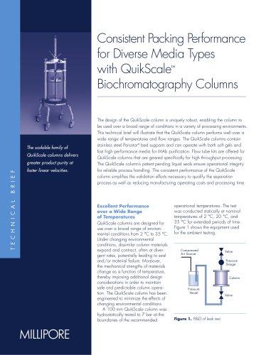 QuikScaleTM Biochromatography Columns