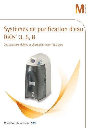 Systèmes de purification d'eau RiOs 3, 5, 8