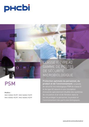 CLASSE II, TYPE A2 GAMME DE POSTES DE SÉCURITÉ MICROBIOLOGIQUE