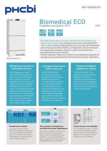 Congélateurs pour plasma Biomedical ECO -40 °C