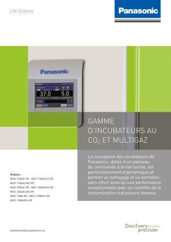 GAMME D'INCUBATEURS AU CO2 ET MULTIGAZ
