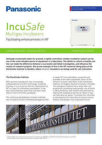 IncuSafe Incubators Customer Testimonial - The Karolinska Institute