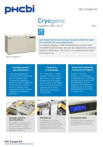 MDF-C2156VAN-PE Congélateur coffre -150 °C