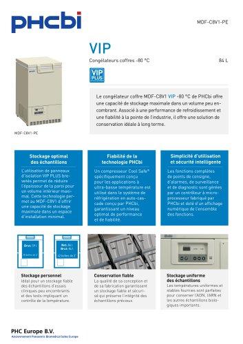 MDF-C8V1-PE Congélateurs coffres -80 °C