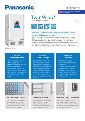 MDF-DU702VX-PE TwinGuard ULT Freezer Product sheet