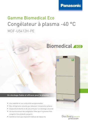 MDF_U5412H Biomedical ECO Congélateur à plasma -40 °C