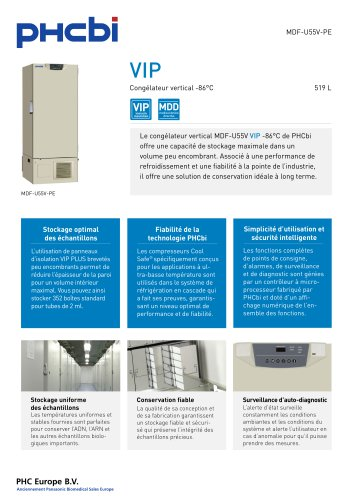 MDF-U55V-PE Congélateur vertical -86°C