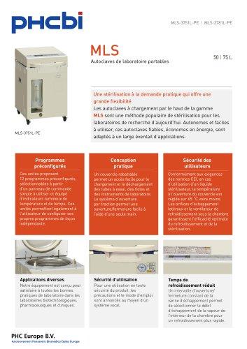MLS-3751L Autoclaves de laboratoire portables