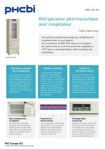 MPR-215F-PE Réfrigérateur pharmaceutique avec congélateur