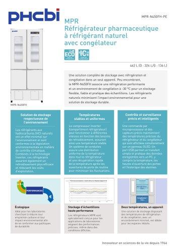 MPR-N450FH-PE Réfrigérateur pharmaceutique avec congélateur