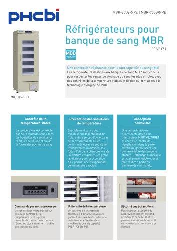 Réfrigérateurs pour banque de sang MBR