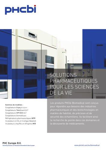 SOLUTIONS PHARMACEUTIQUES POUR LES SCIENCES  DE LA VIE