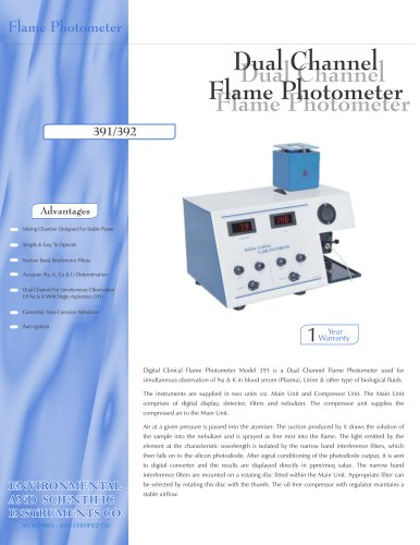 Dual Channel Flame Photometer –391/392