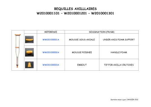 BEQUILLES AXILLLAIRES