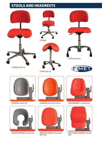 F1 Stools and Headrests