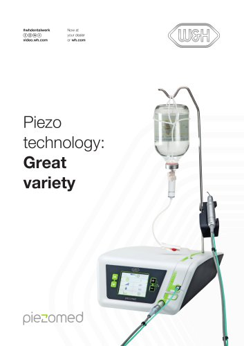 Piezo  technology: Great  variety