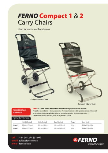 Compact 1 & 2 Carry Chair