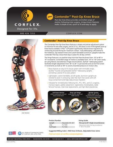 Contender™ Post-Op Knee Brace