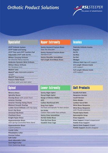Orthotics Product Catalogue