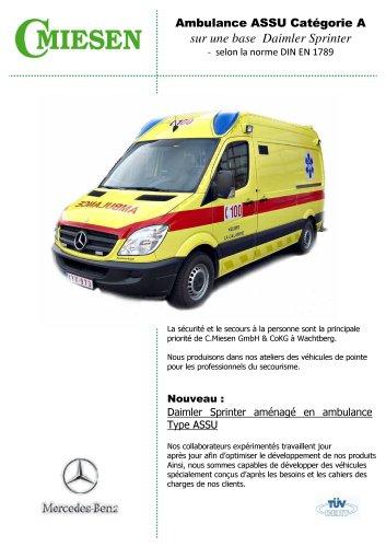 Ambulance ASSU Catégorie A Sprinter