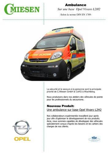 Ambulance Opel Vivaro L2H2