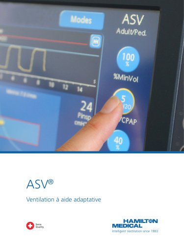 ASV Ventilation à aide adaptative brochure