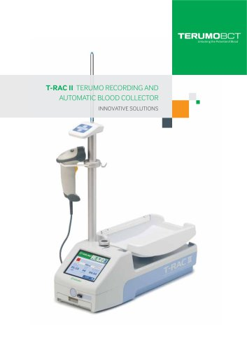 T-RAC II TERUMO recording AND Automatic blood collect