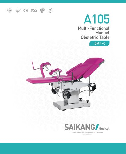 A105 Multi-Functional-Manual-Obstetric-Table_SaikangMedical