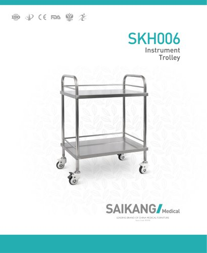 SKH006 Instrument-Trolley_SaikangMedical
