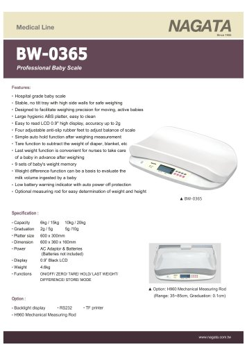 BW-0365 Professional Baby Scale