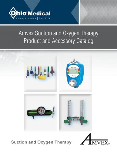 Amvex Suction and Oxygen Therapy Product and Accessory Catalog