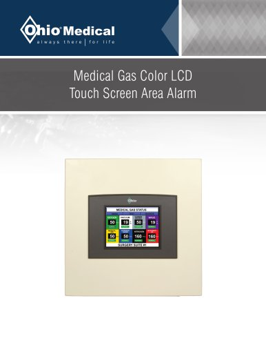 Medical Gas Color LCD Touch Screen Area Alarm