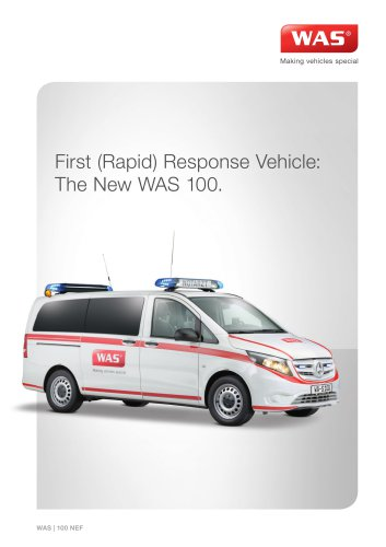 WAS 100 First Response Vehicle Mercedes-Benz Vito 3 T