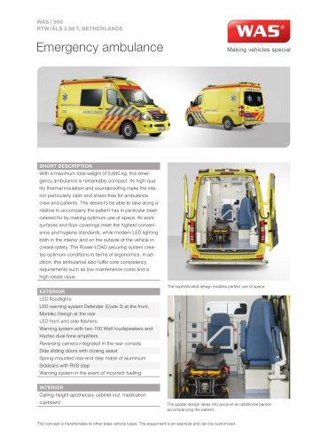 WAS 300 Emergency Ambulance Mercedes-Benz Sprinter Panel Van ALS 3.88 T