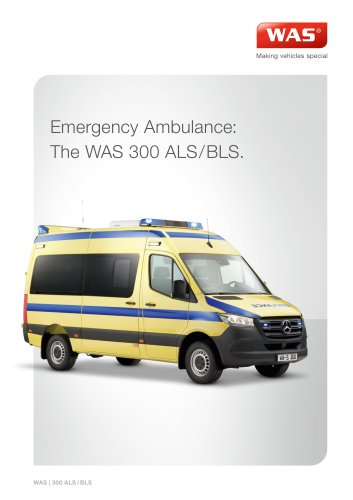 WAS 300 Emergency Ambulance Mercedes-Benz Sprinter Panel Van ALS/BLS 3.5 T