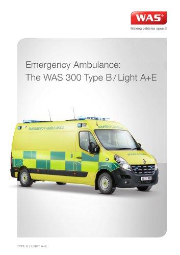 WAS 300 Emergency Ambulance Renault Master Panel Van Type B / Light A+E 3.5 T