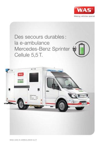WAS 500 E-Ambulance Mercedes-Benz Sprinter Cellule 5,5 T
