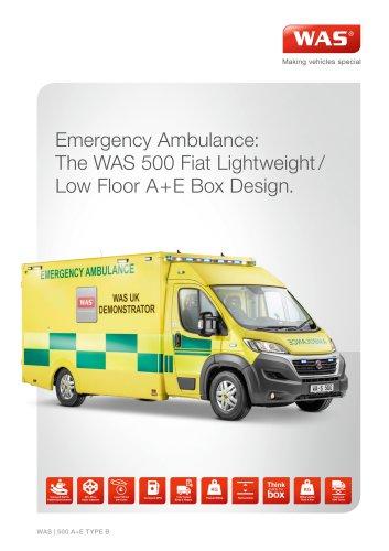 WAS 500 Emergency Ambulance Fiat Ducato Box Body Type B / Light A+E 4.25 T