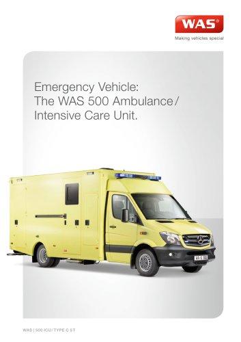 WAS 500 Emergency Ambulance / Intensive Care Unit Mercedes-Benz Sprinter Box Body 5 T