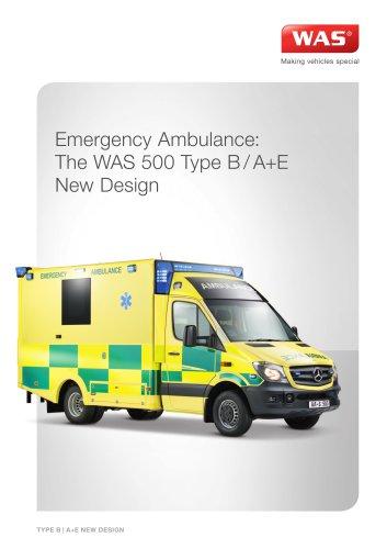 WAS 500 Emergency Ambulance Mercedes-Benz Sprinter Box Body Type B / A+E 5 T