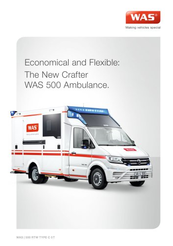 WAS 500 Emergency Ambulance Volkswagen Crafter Box Body 5 T