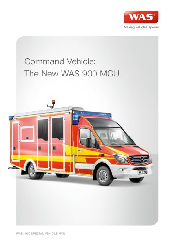 WAS 900 Disaster Relief Vehicle Command Vehicle Mercedes-Benz Sprinter Box Body 5 T