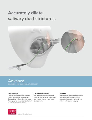 Accurately dilate salivary duct strictures.