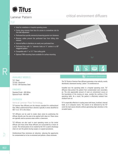 TLF critical environment diffusers