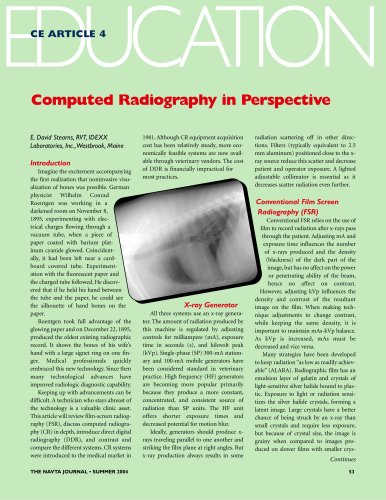 Computed Radiography in Perspective