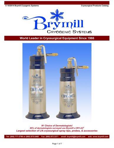 Cryosurgical Products Catalog