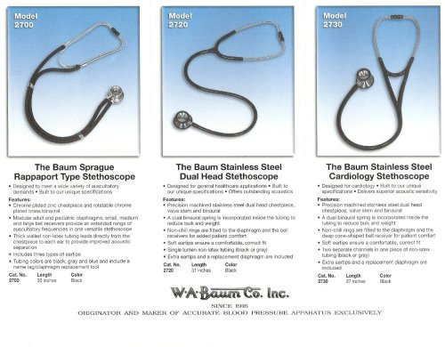 Baum Stethoscopes