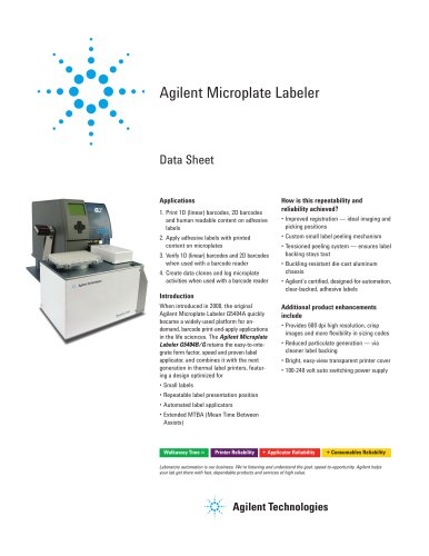 Agilent Microplate Labeler