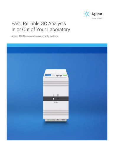Seen by CS and WCoE Agilent 990 Micro gas chromatography systems